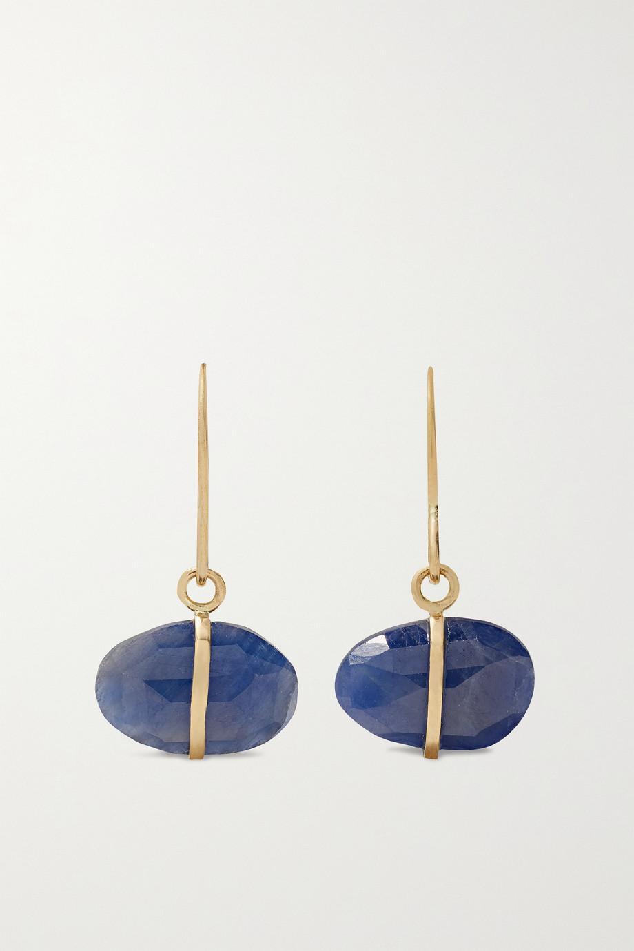 Melissa Joy Manning 14-karat recycled gold sapphire earrings