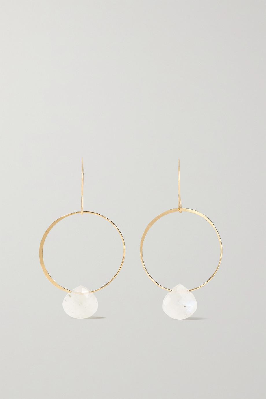Melissa Joy Manning 14-karat recycled gold moonstone earrings