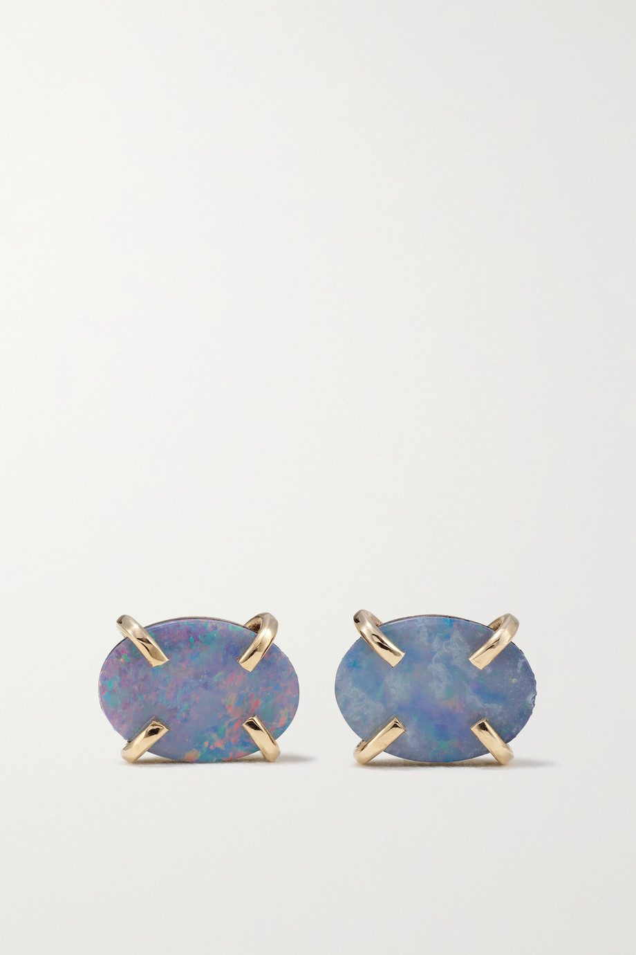 Melissa Joy Manning 14-karat recycled gold opal earrings