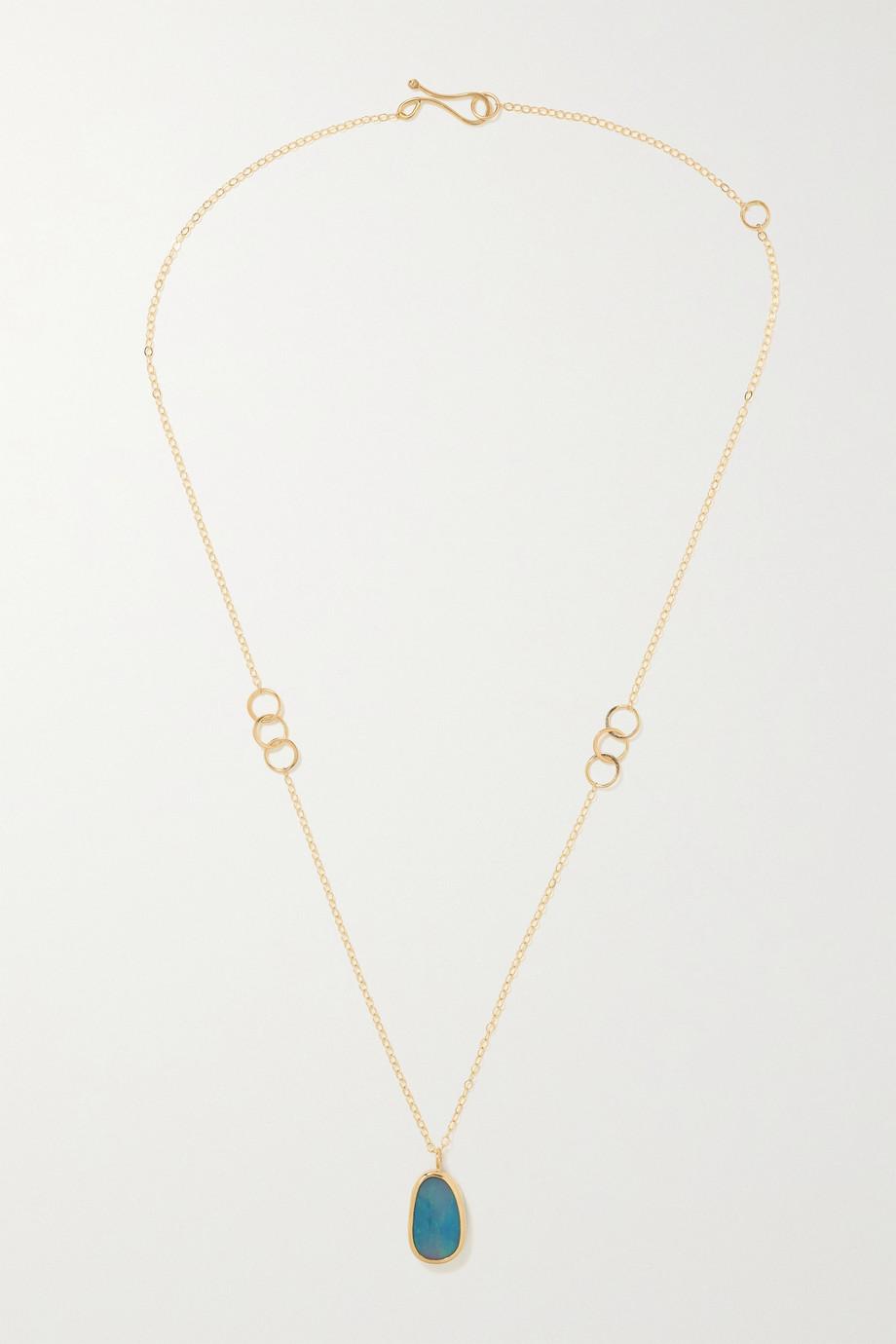 Melissa Joy Manning 14-karat recycled gold opal necklace
