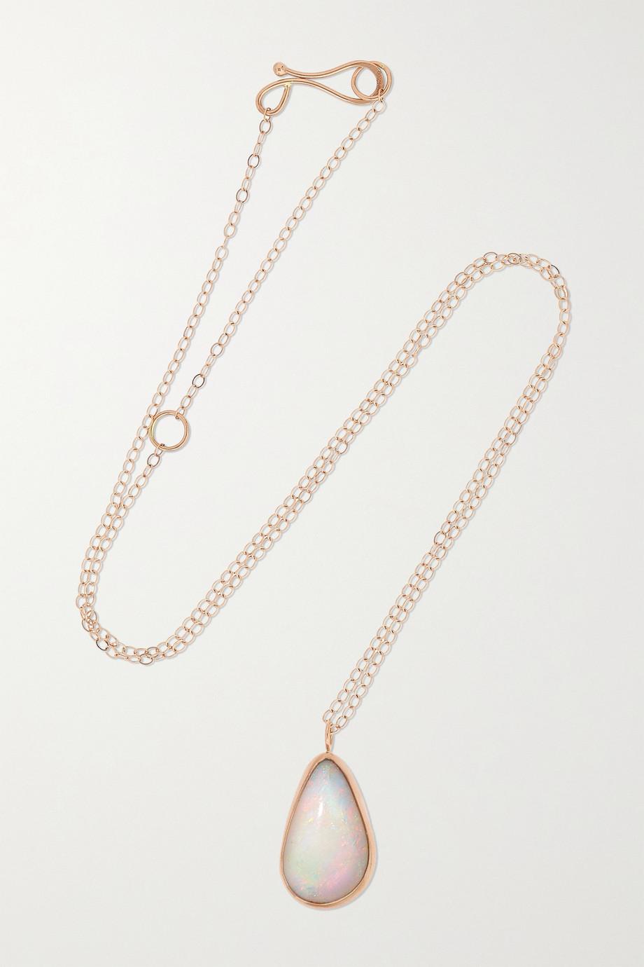 Melissa Joy Manning 14-karat recycled rose gold opal necklace