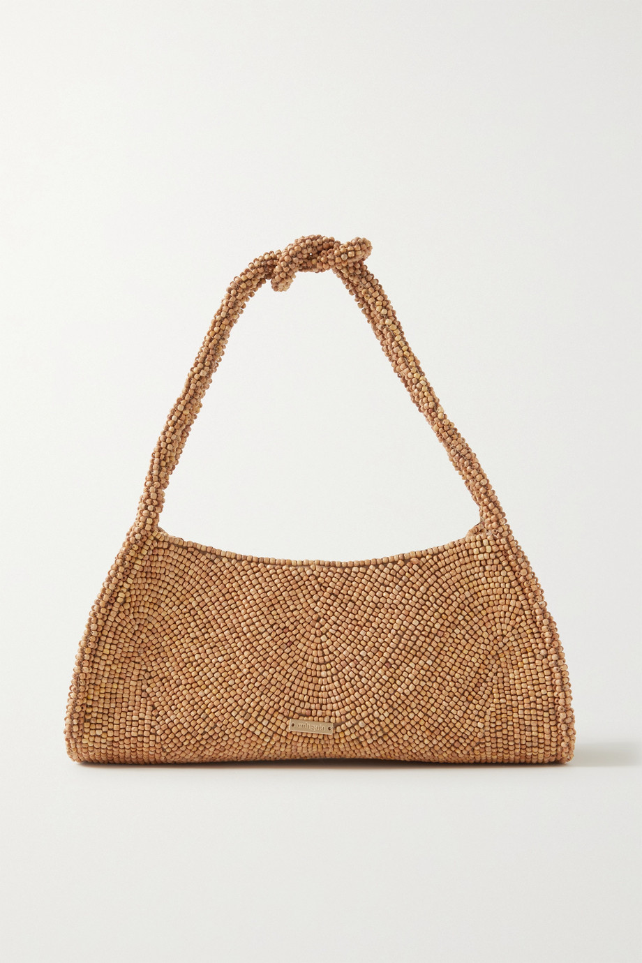 Cult Gaia Tala beaded vegan suede shoulder bag