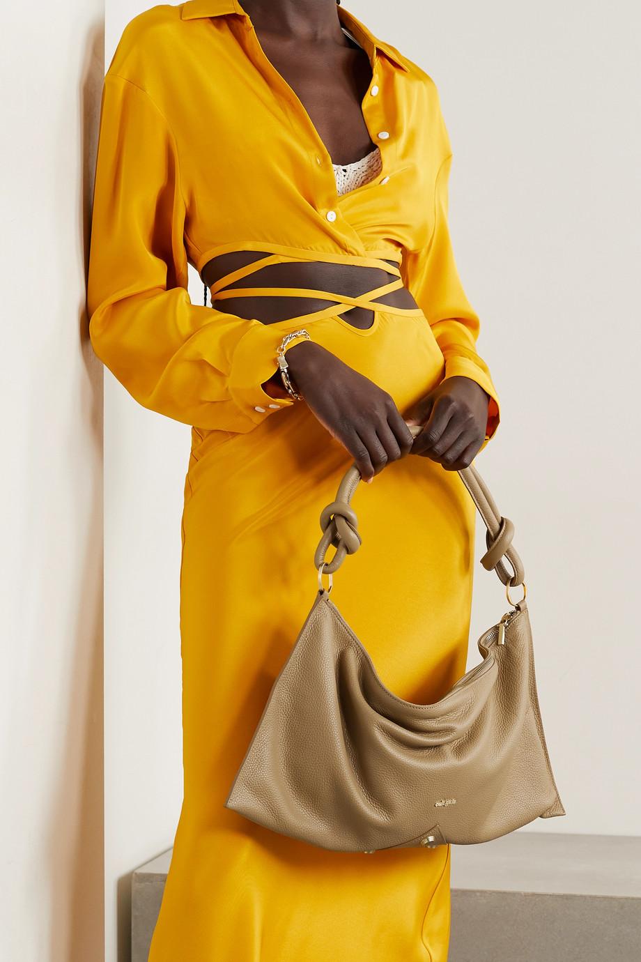 Cult Gaia Hera textured-leather shoulder bag