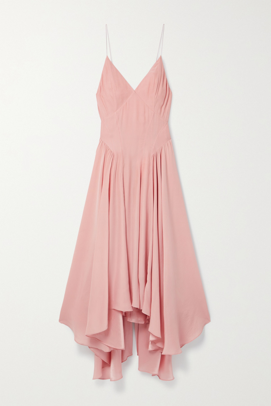 TOVE Maren asymmetric silk-crepon dress