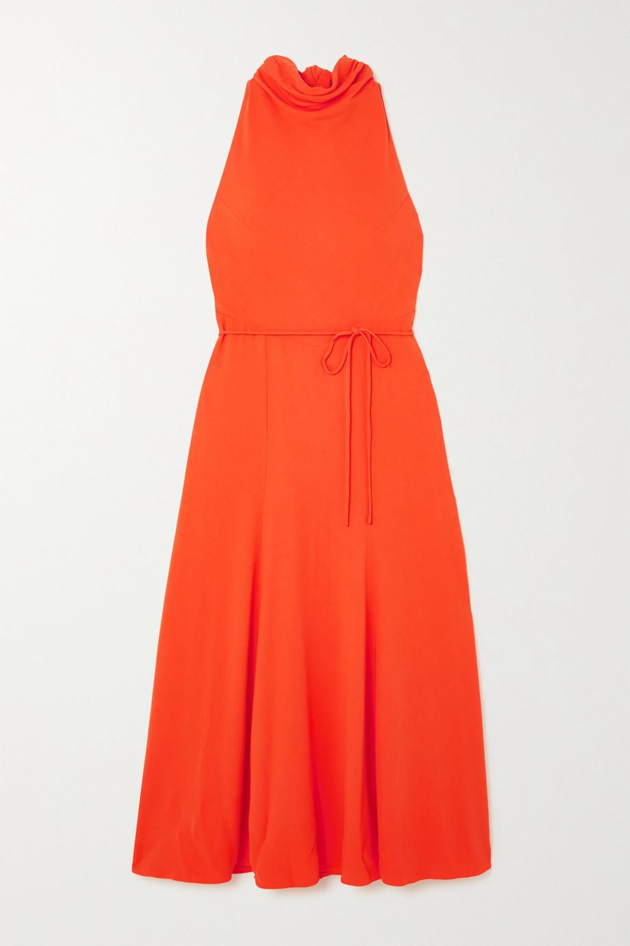 TOVE Emory tie-detailed crepe midi dress