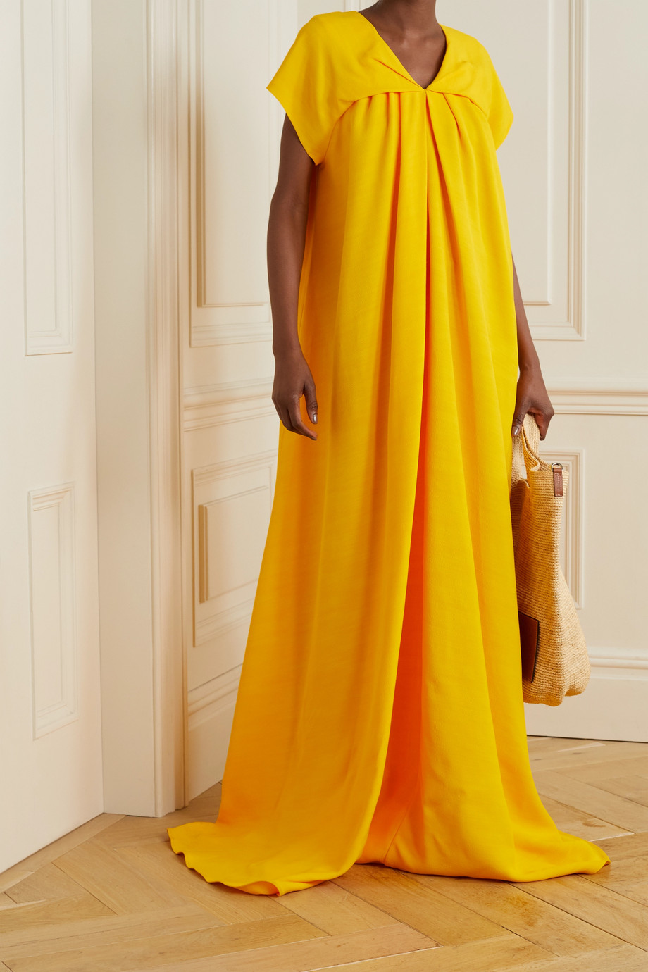 TOVE Anna twill maxi dress