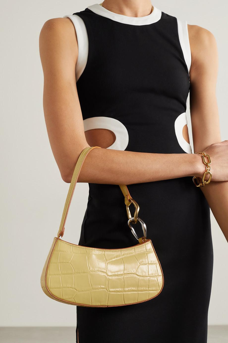 STAUD Ollie croc-effect leather shoulder bag