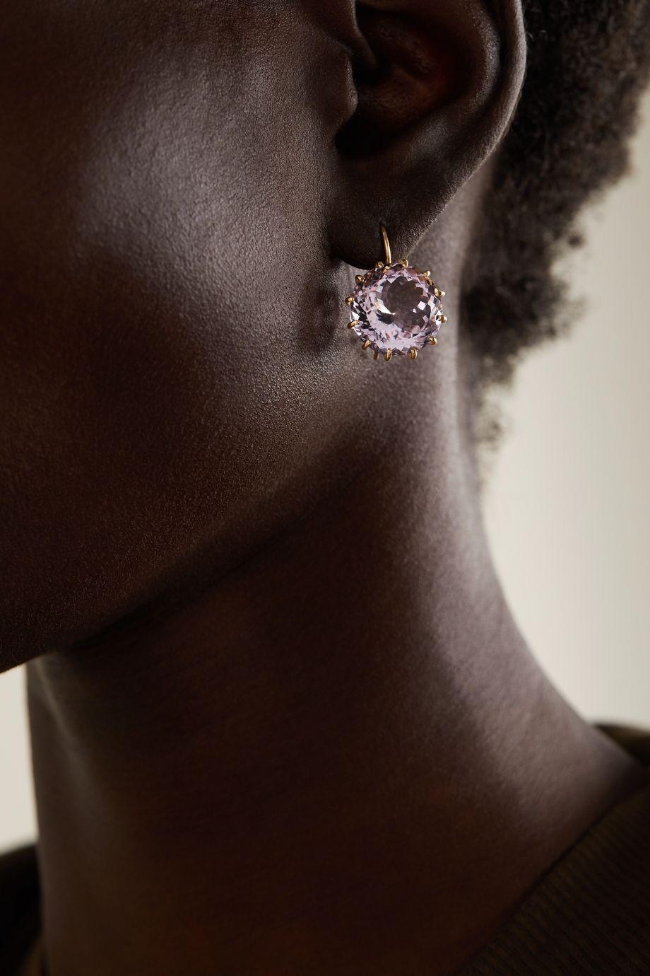 Andrea Fohrman 18-karat gold amethyst earrings