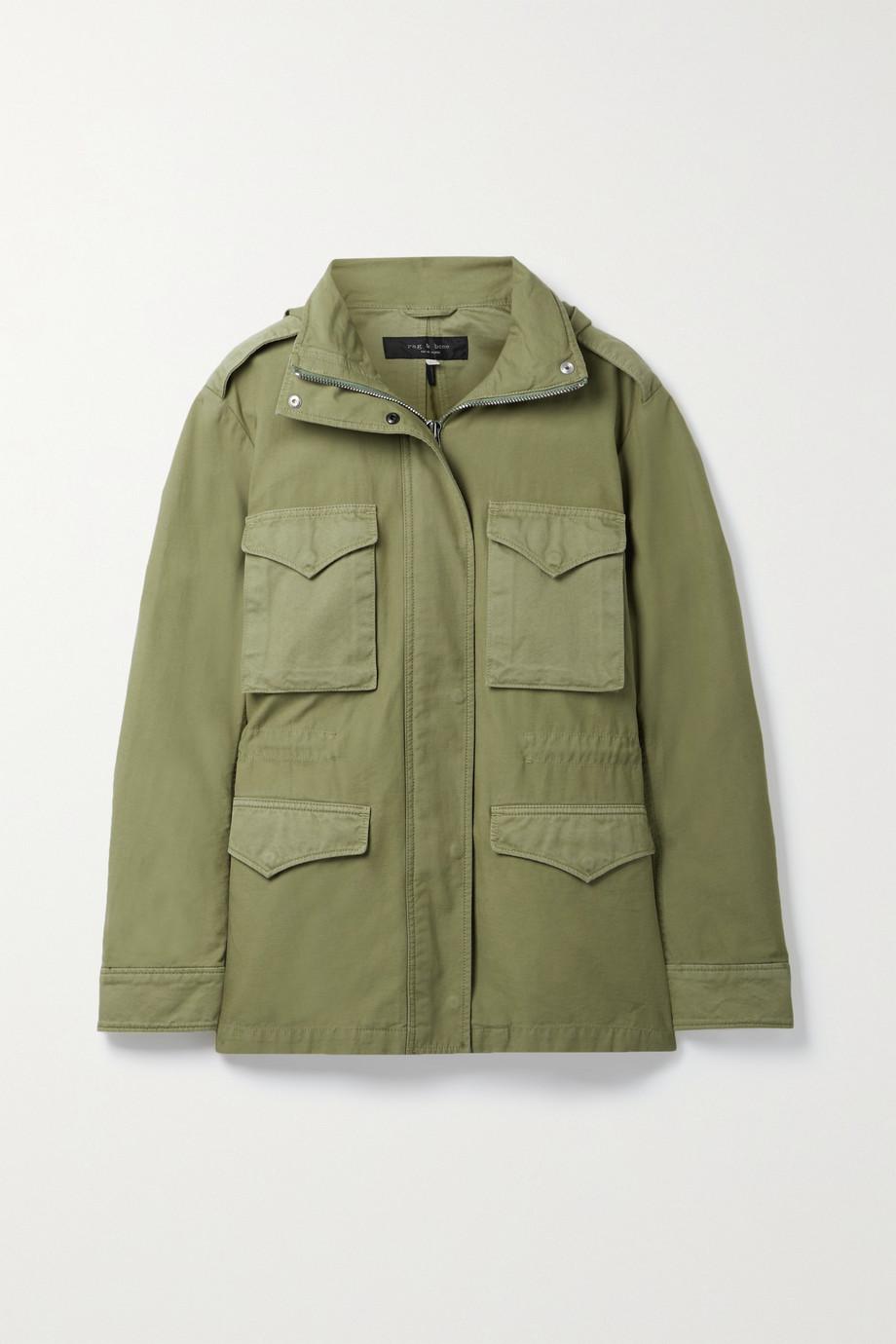 rag & bone Field M65 hooded twill-trimmed cotton-canvas jacket