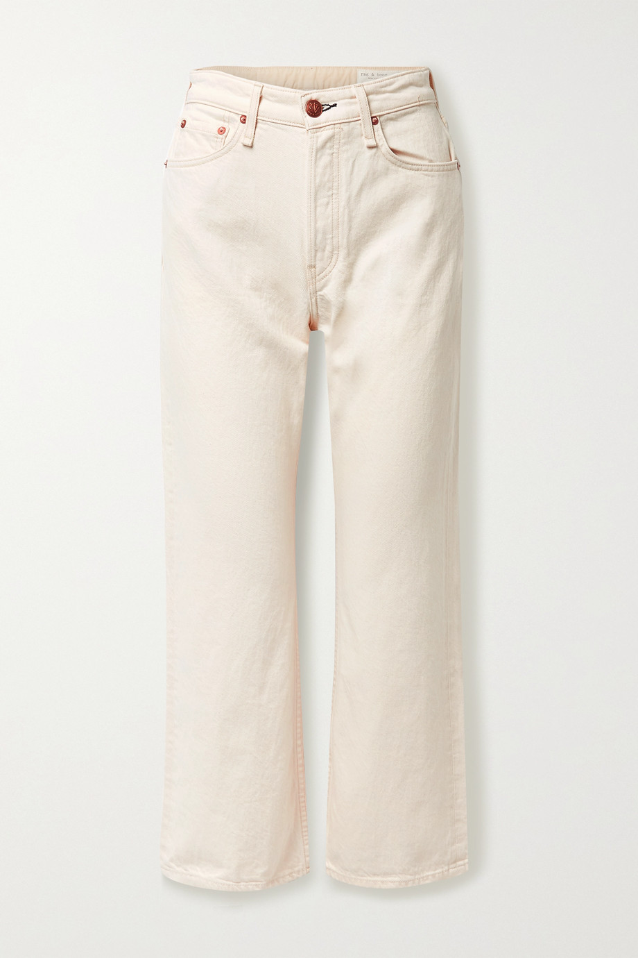 rag & bone + NET SUSTAIN Maya cropped organic high-rise straight-leg jeans