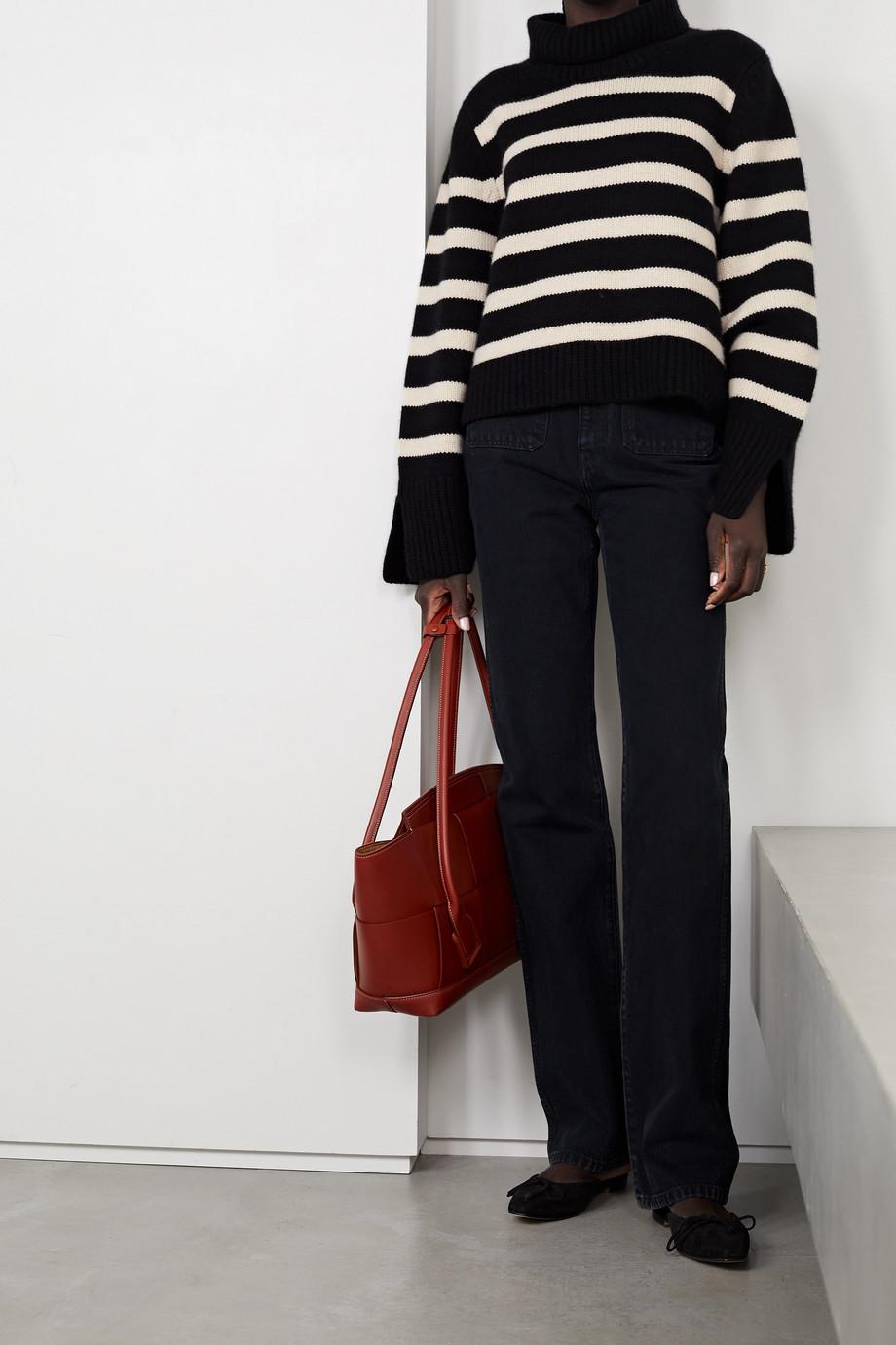 Khaite Marion striped cashmere turtleneck sweater
