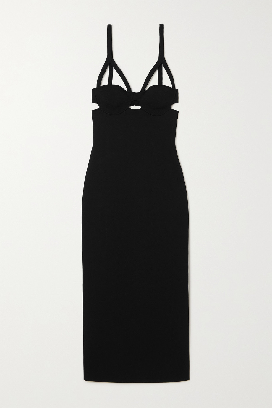 Khaite Honour cutout stretch-jersey midi dress