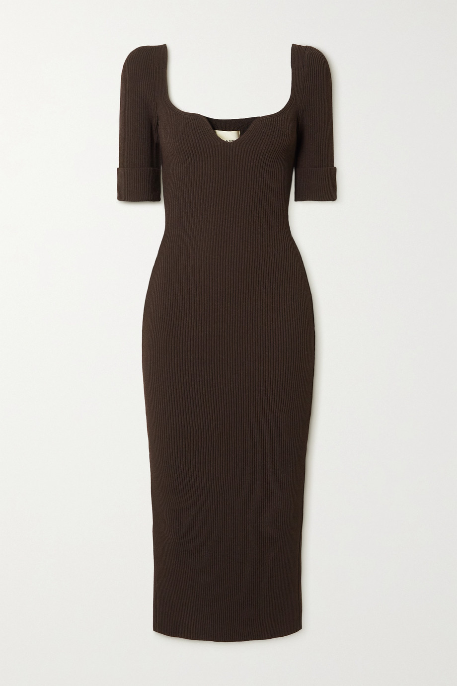 Khaite Leana ribbed-knit midi dress