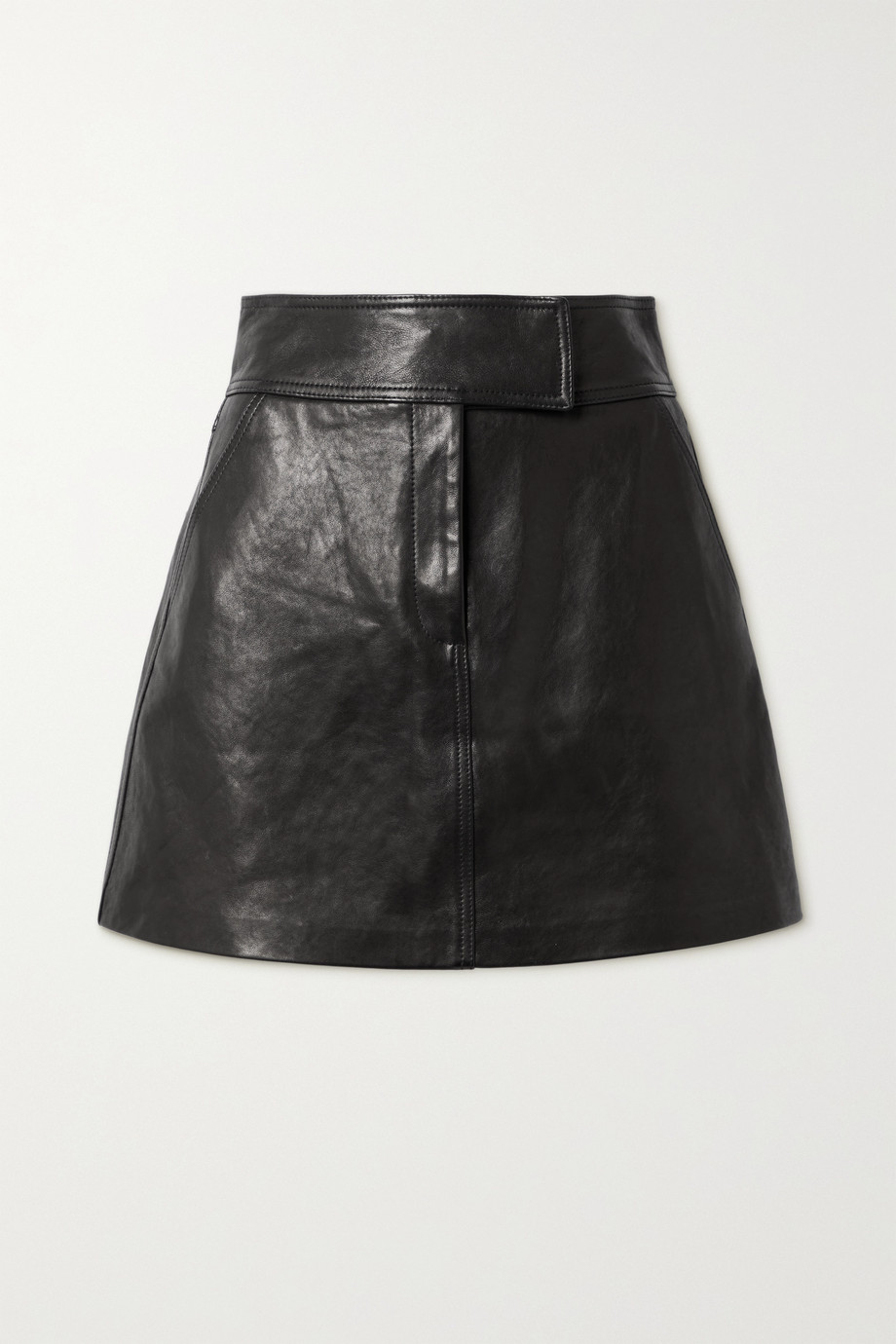 Khaite Giulia leather mini skirt