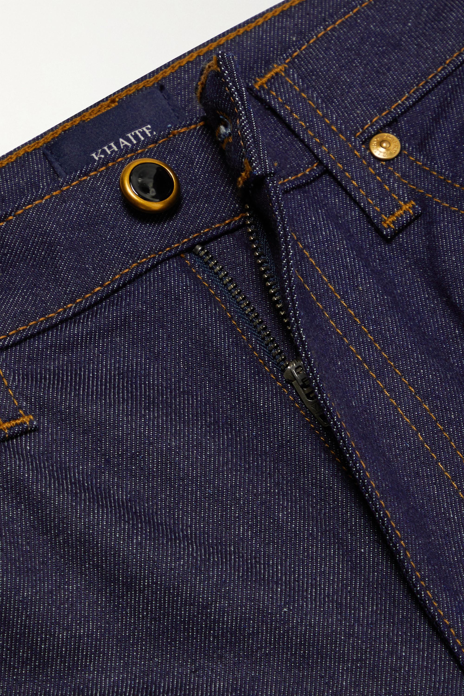 Khaite Vivian verkürzte, hoch sitzende Bootcut-Jeans