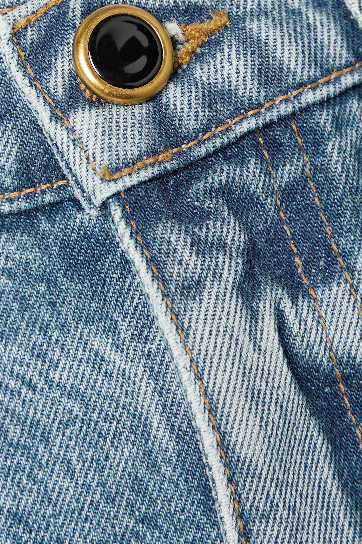 Khaite Jupe en jean effet vieilli Maggie