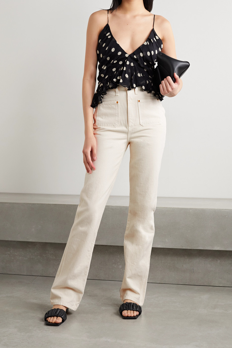 Khaite Isabella high-rise straight-leg jeans