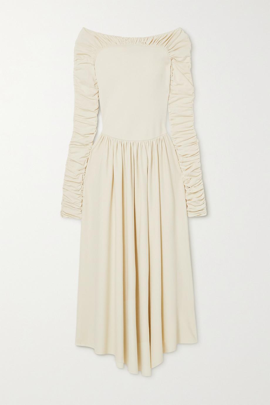 Khaite Ren ruched stretch-knit midi dress