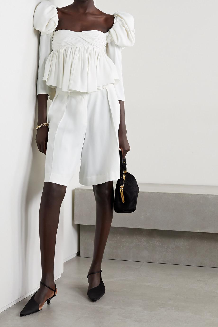Khaite Isabelle crepe shorts
