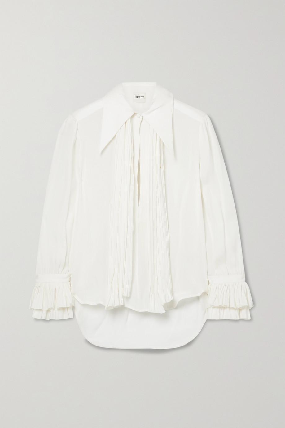 Khaite Nia silk-georgette blouse
