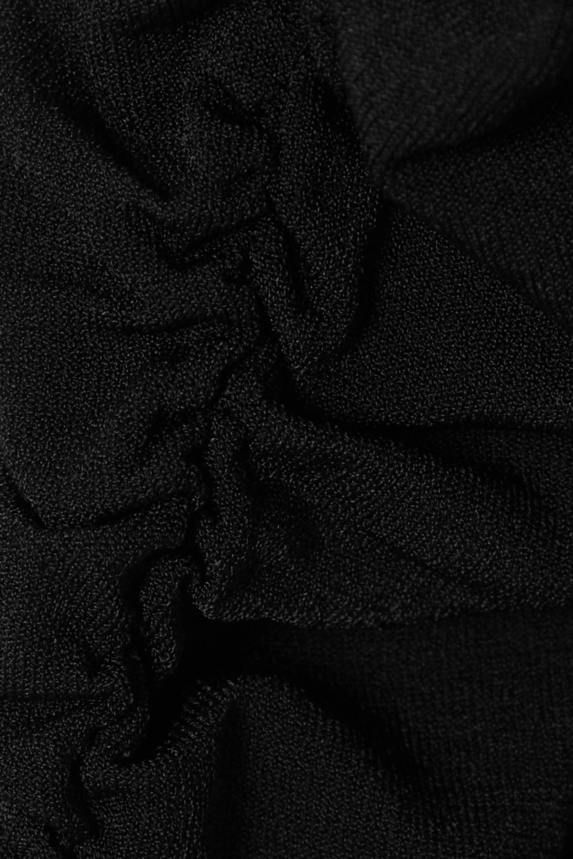 Khaite Body en jersey stretch côtelé à fronces Naya