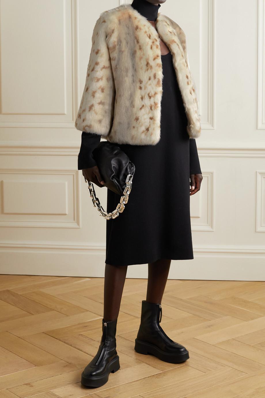 Faz Not Fur Foxy printed faux fur jacket