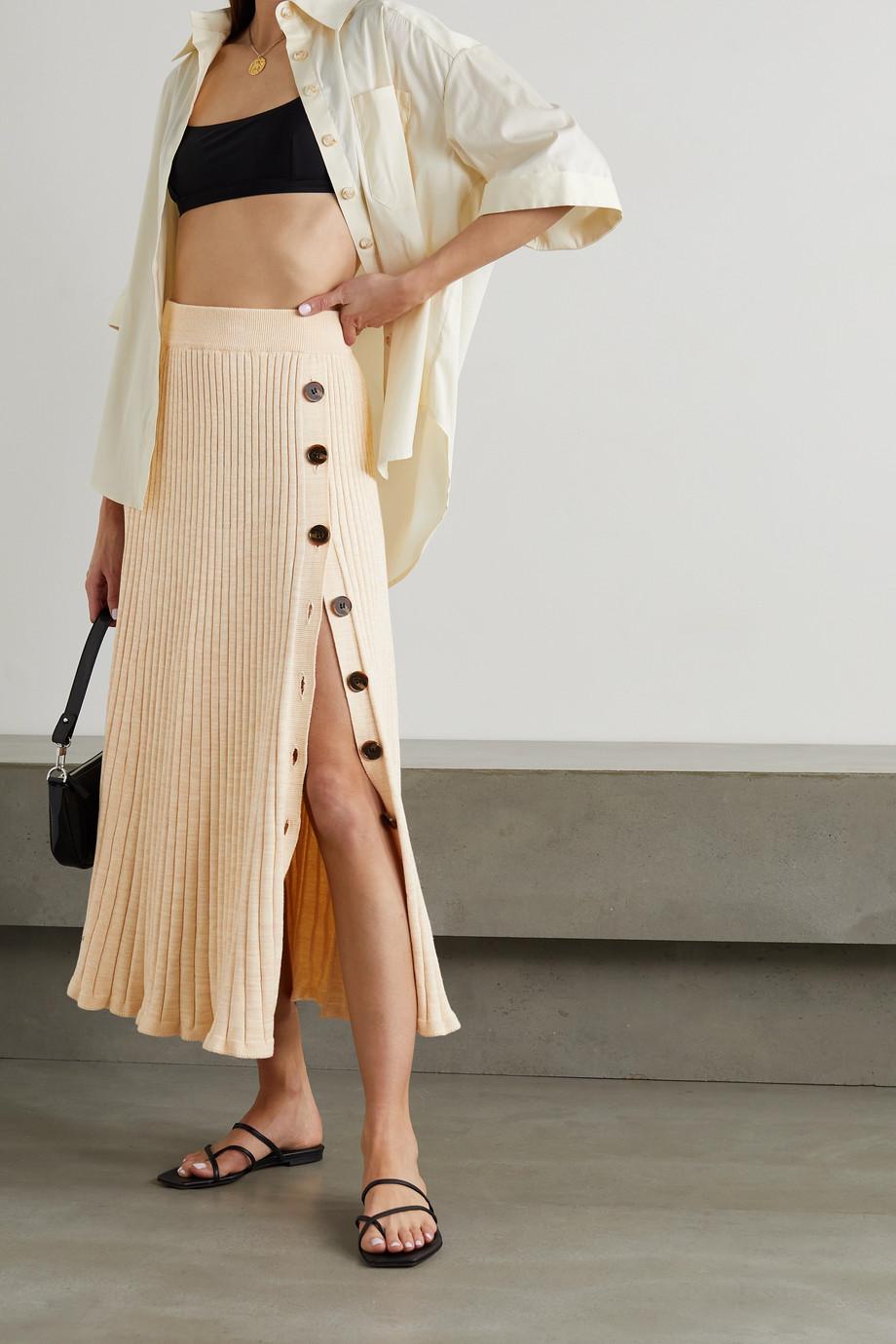ANNA QUAN Hettie Maxirock aus gerippter Baumwolle