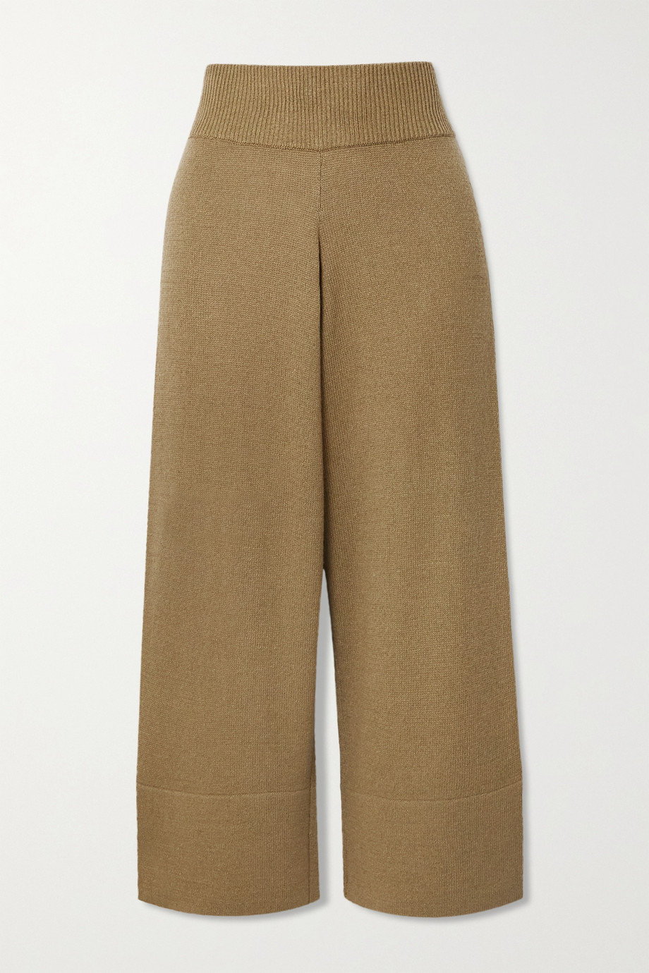 Altuzarra Cynthia cropped cashmere and cotton-blend pants