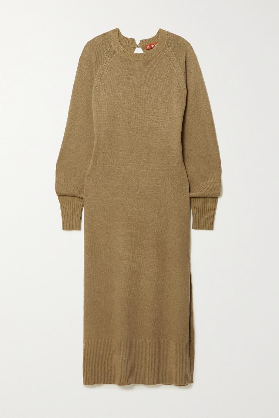 Altuzarra Chamomile cashmere and cotton-blend midi dress