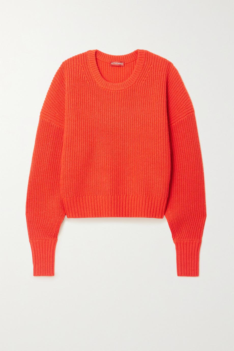 Altuzarra Anthea cutout ribbed cashmere and cotton-blend sweater