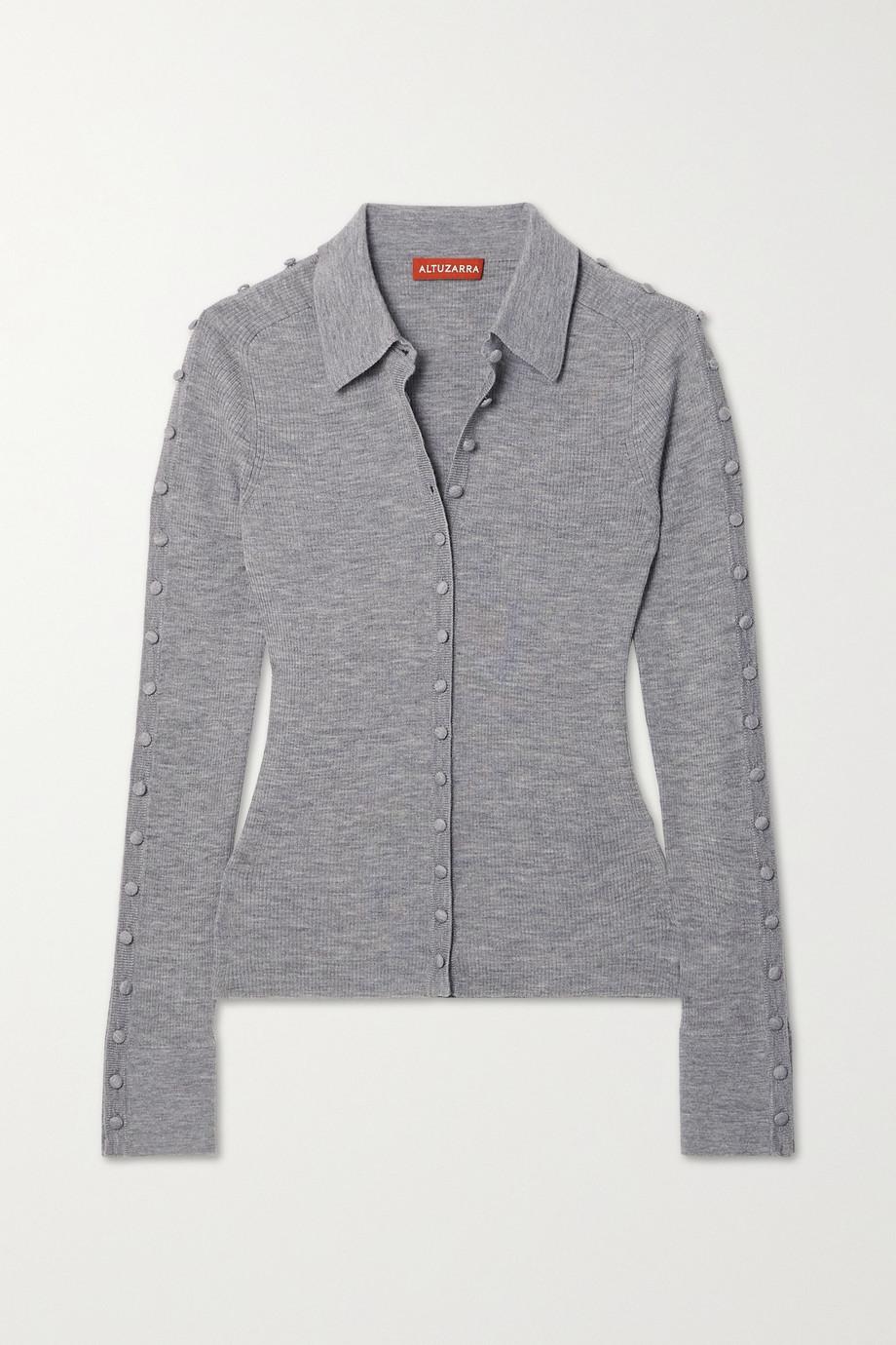Altuzarra Hill button-embellished ribbed wool-blend cardigan