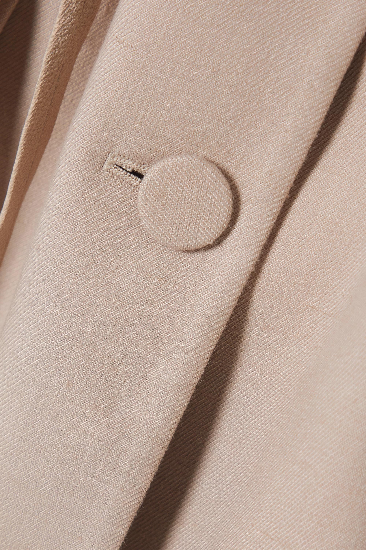 Altuzarra Arbor belted linen-blend twill blazer