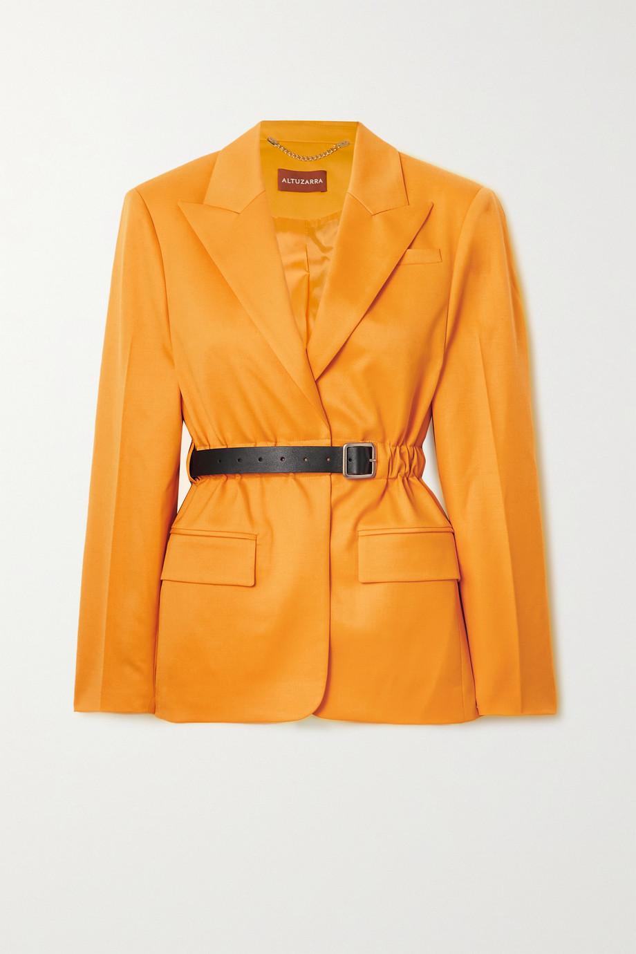 Altuzarra Lilium belted wool-blend twill blazer
