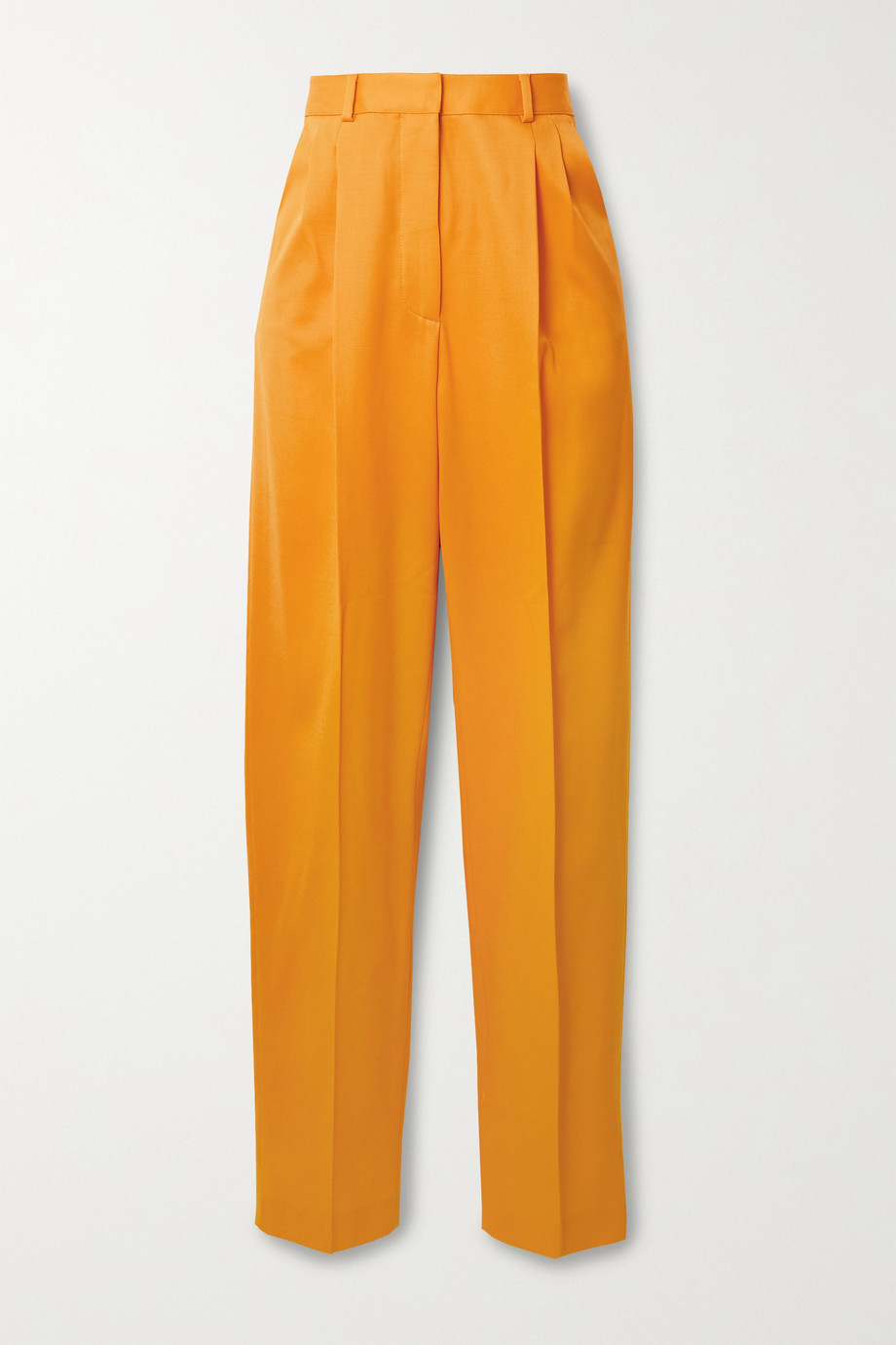 Altuzarra Cosmos pleated wool-blend twill straight-leg pants