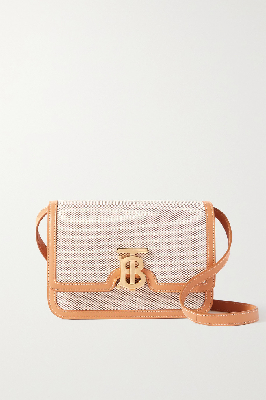 Burberry Small leather-trimmed canvas shoulder bag