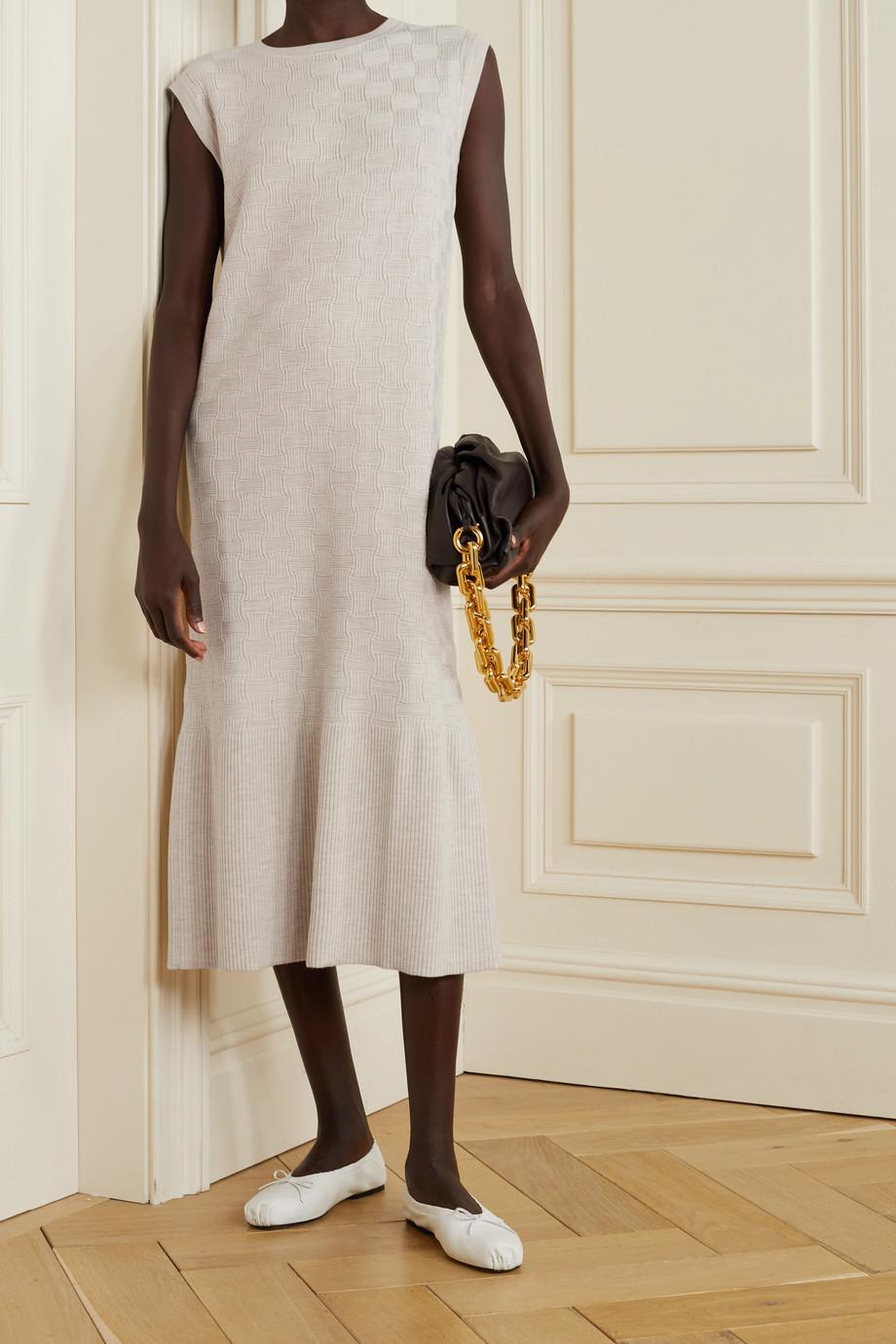 CASASOLA Textured wool-blend midi dress