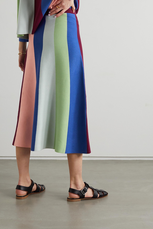 Victoria, Victoria Beckham Striped knitted midi skirt