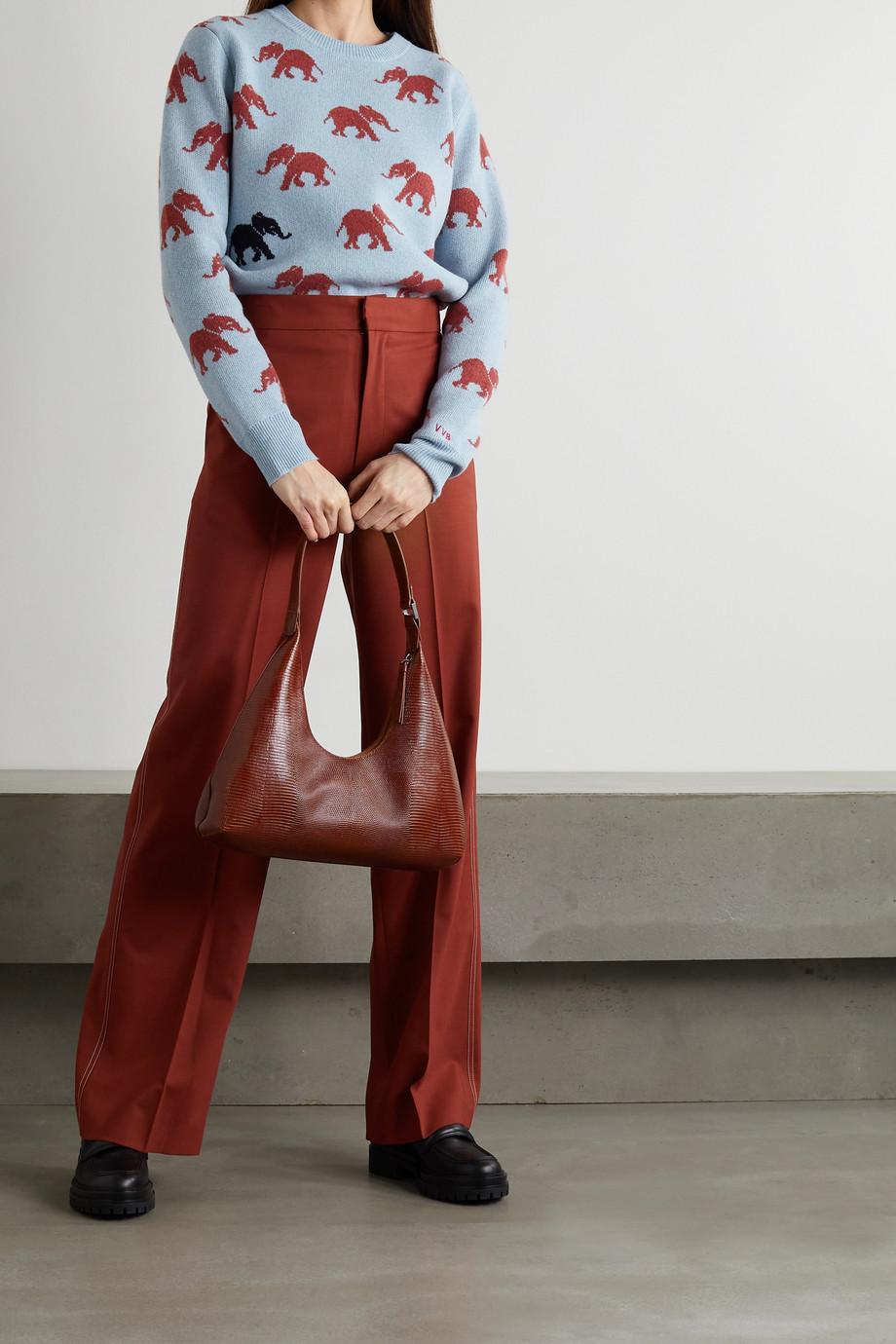 Victoria, Victoria Beckham Intarsia brushed merino wool sweater
