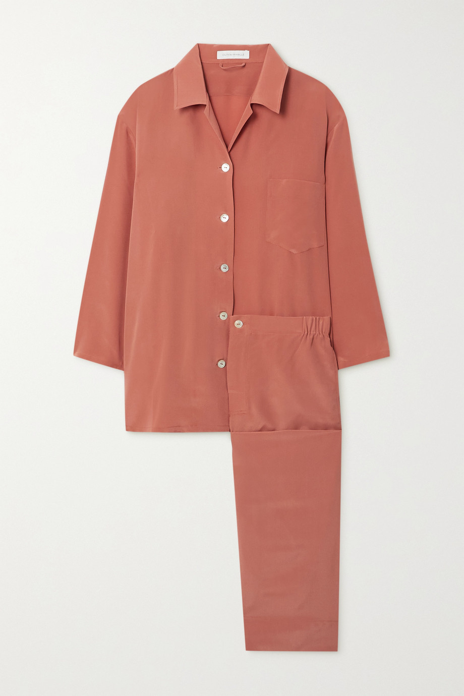 Olivia von Halle Casablanca silk crepe de chine pajama set