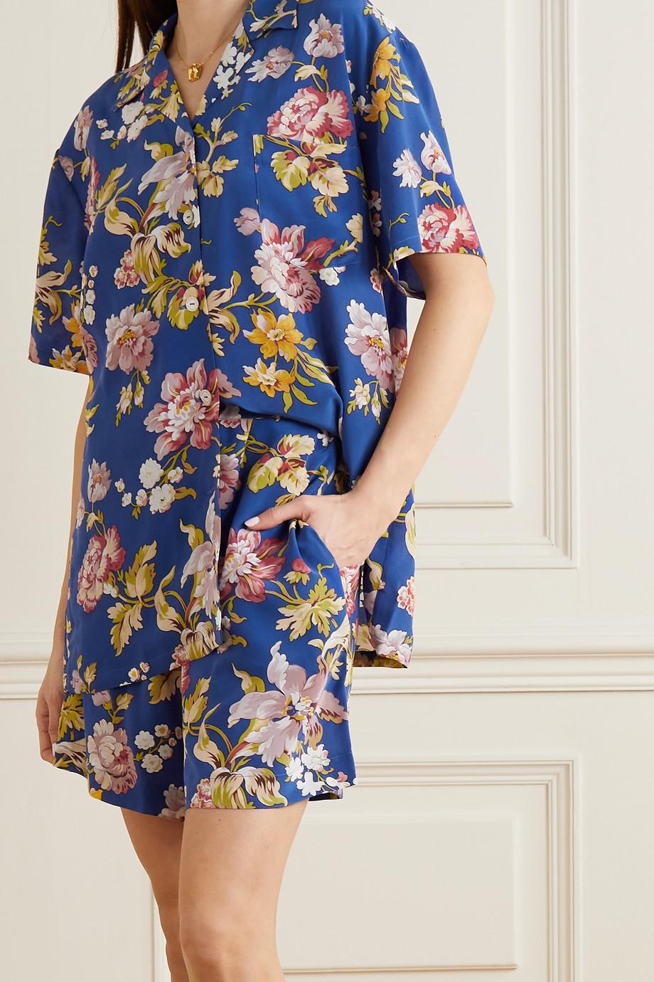 Olivia von Halle Emeli floral-print silk crepe de chine pajama set