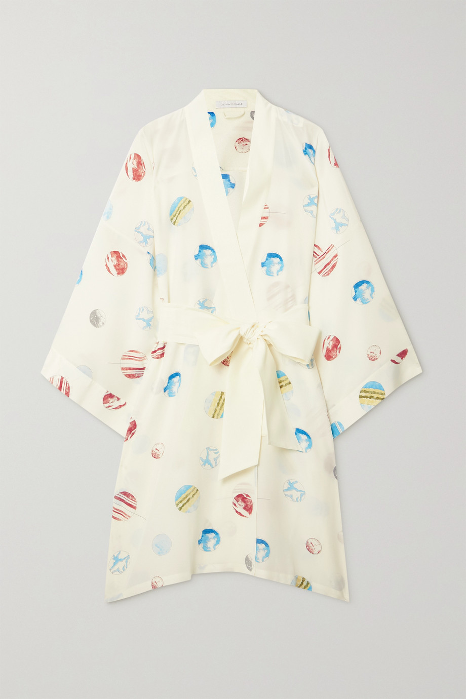 Olivia von Halle Mimi printed silk crepe de chine robe