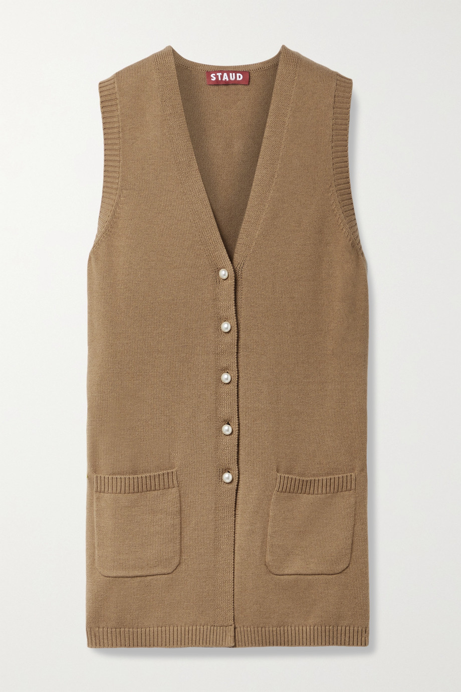 STAUD Jo cotton-blend vest