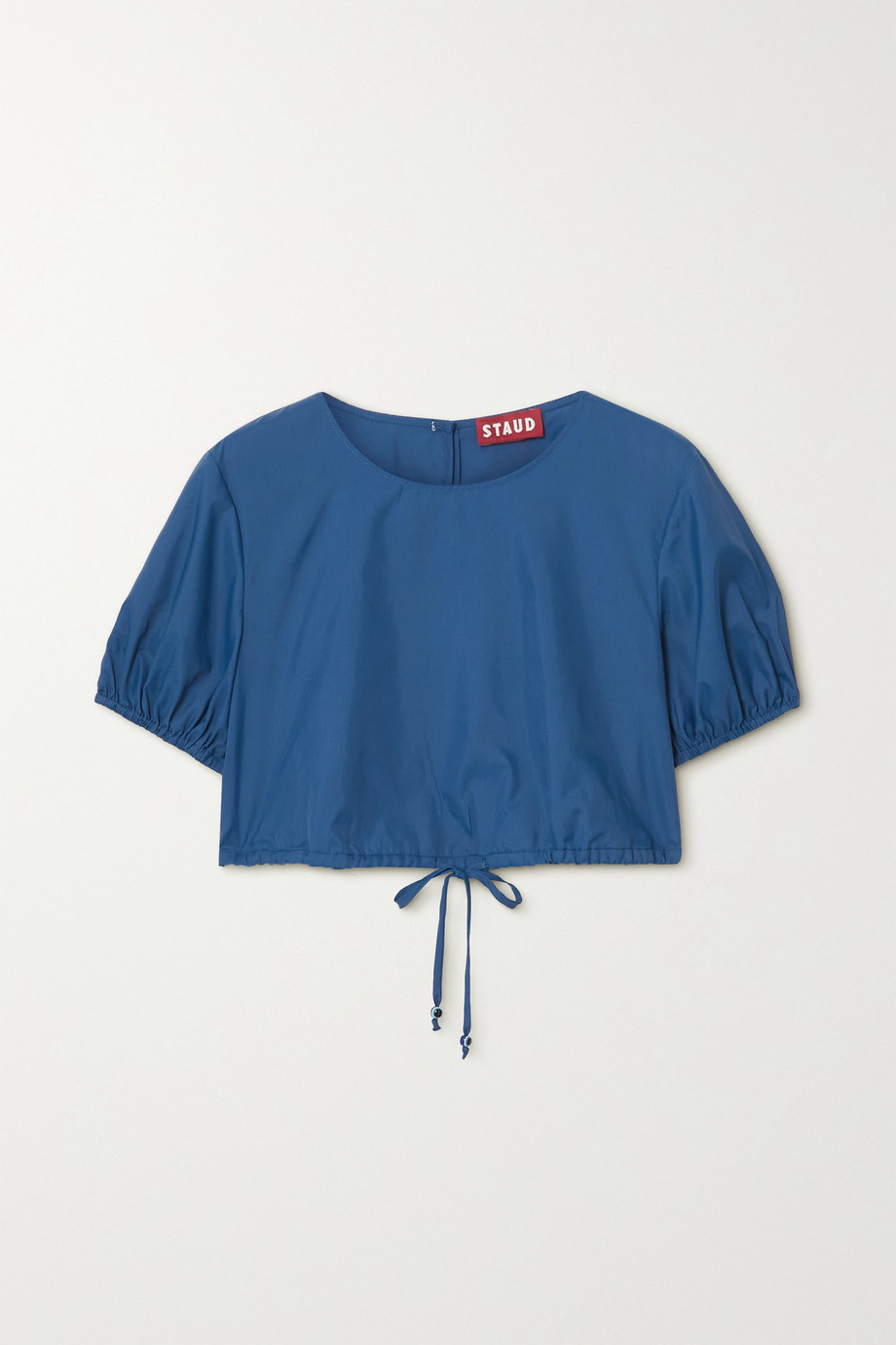 STAUD Prato cropped recycled shell top