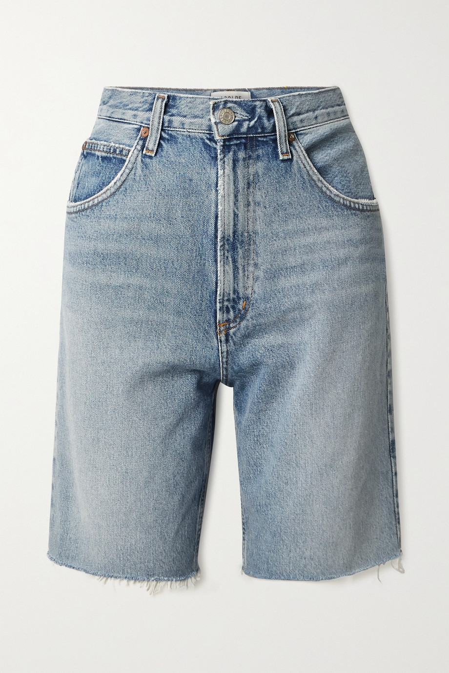 AGOLDE + NET SUSTAIN Pinch Shorts aus Biobaumwoll-Denim in Distressed-Optik