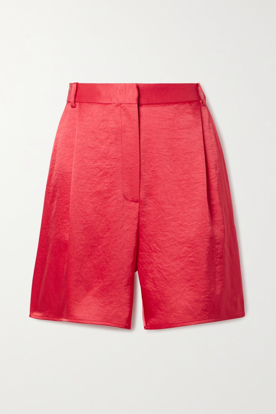 LAPOINTE Shorts aus Satin in Knitteroptik mit Falten