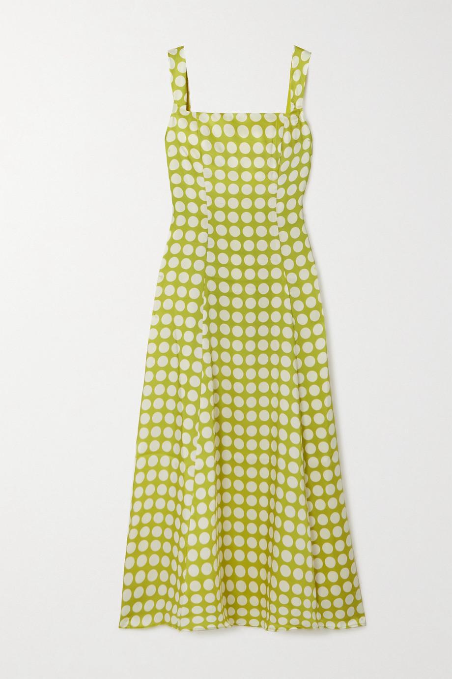 De La Vali Bandana Kleid aus recyceltem Twill mit Punkten