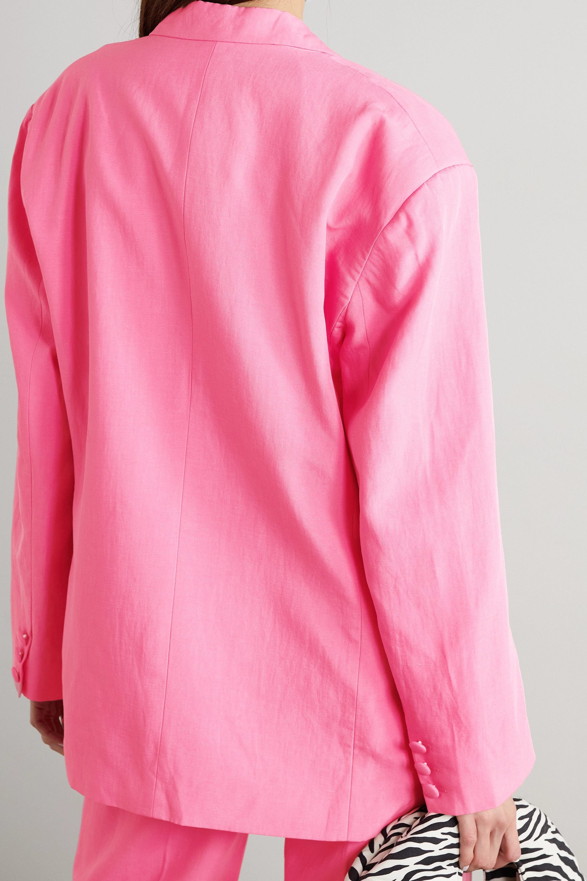 De La Vali Montana Tencel and linen-blend blazer
