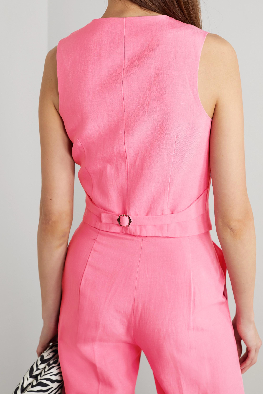 De La Vali Screamin' Tencel and linen-blend vest