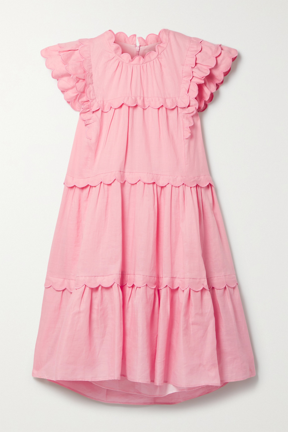 Sea Shannon scalloped tiered ramie dress