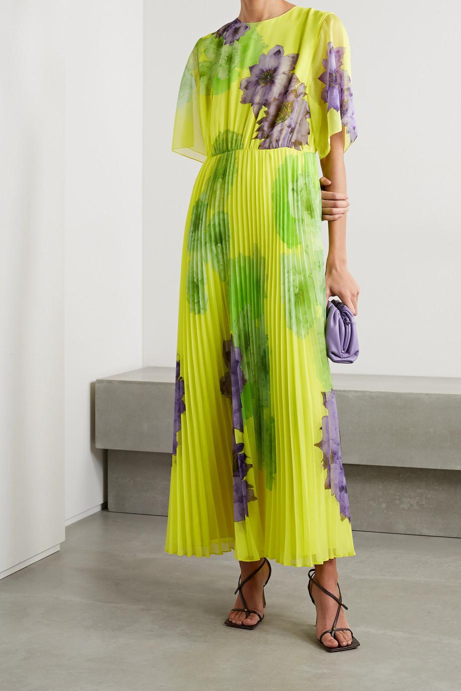 Jason Wu Collection Pleated floral-print chiffon maxi dress